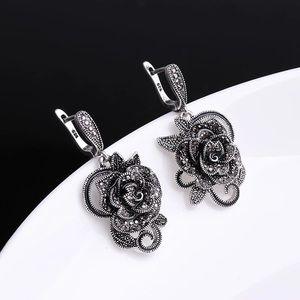 Antique Jewelry Women earrings with vintage flower